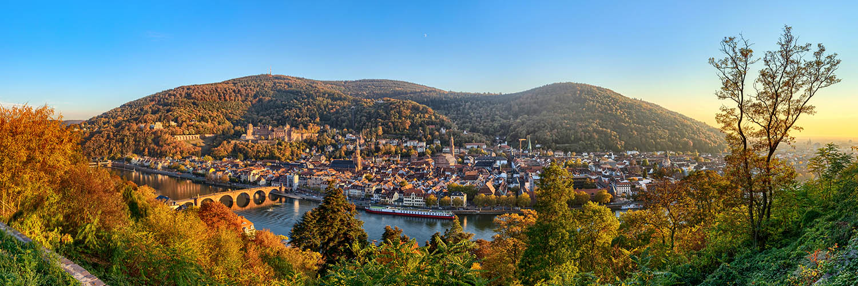 Heidelberg Panorama im Herbst