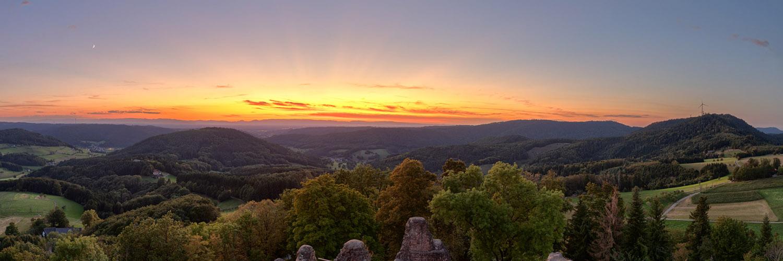 Schwarzwald Abendstimmung Panorama
