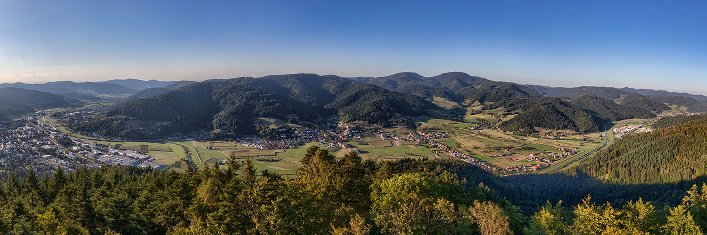 Schwarzwaldpanorama Urenkopf bei Haslach